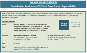 Exempt Market Review OSC Consultation Sessions 300x186 - Exempt Market Review - OSC Consultation Sessions