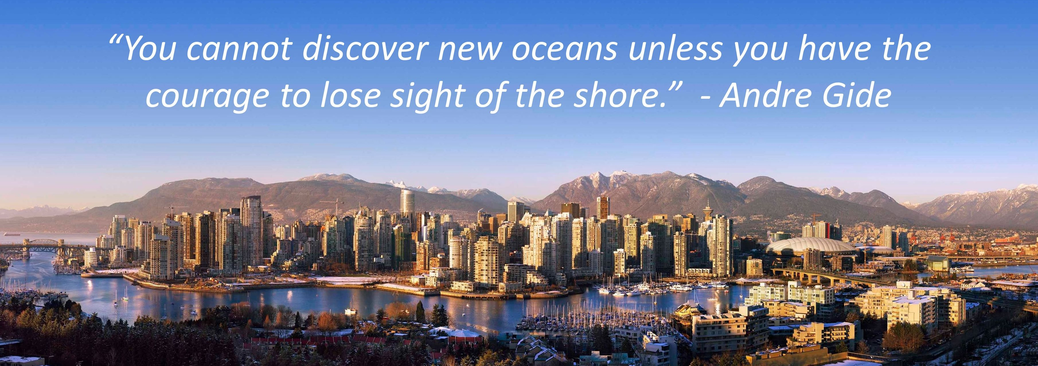 Vancouver skyline with quote - Canada at Crowdfunding Tipping Point – VanFUNDING 2016 scheduled for Oct. 18th in Vancouver