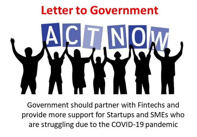NCFA COVID 19 letter to government to support Fintechs and SMEs - Bold Vision, Bright Future