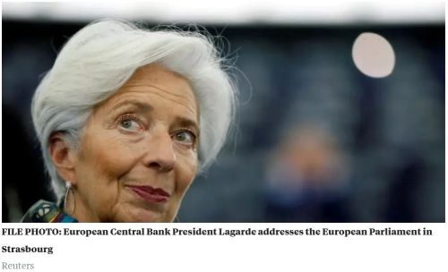 ECB President Lagrade 1 - The ECB is looking 'very seriously' at the creation of a digital euro, president Christine Lagarde says