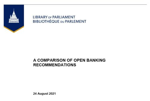 Library of Parliment A Comparison of Open Banking Recommendations - The lending revolution: How digital credit is changing banks from the inside